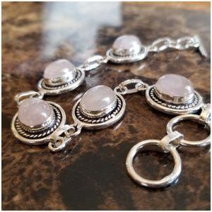 "Jewelry - Dainty & Classy Natural Rose Quartz Bracelet 7.5"""